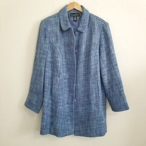 Dialogue Blue Tweed Jacket Size 22W